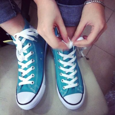 Converse classic cổ cao xanh mint
