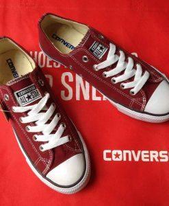 Converse classic đỏ đô cổ thấp