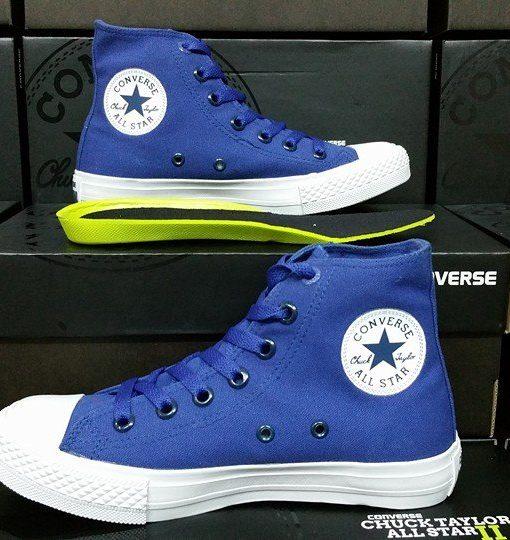 converse chuck 2 xanh coban