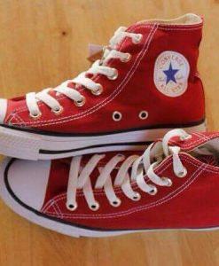 Converse classic đỏ tươi cổ cao