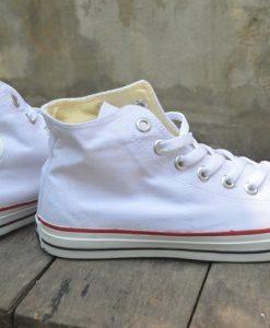 Converse classic trắng cổ cao