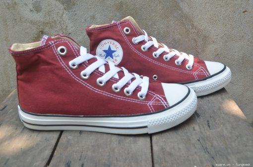 Converse Classic đỏ đô cổ cao