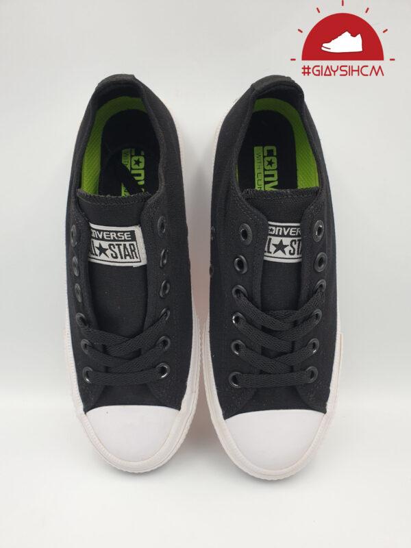 Converse Chuck 2 đen cổ thấp