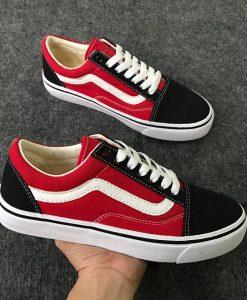 vans đen đỏ