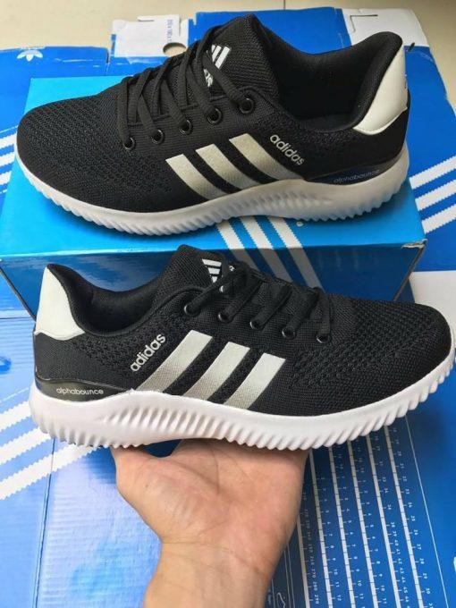 Adidas alphabuonce đen trắng