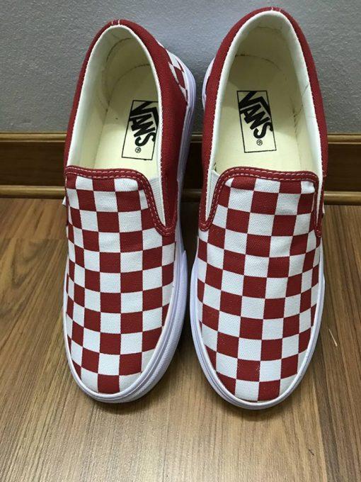Vans Checkerboard red