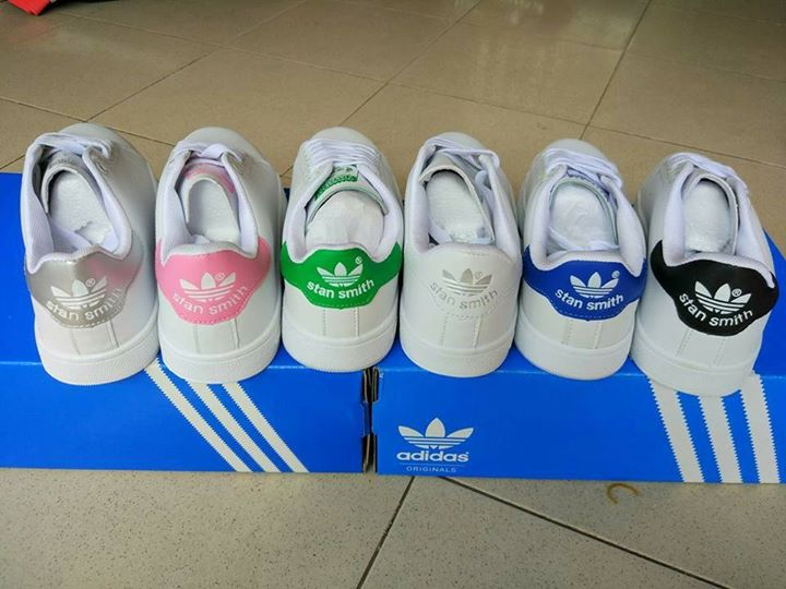 adidas stan smith fake 1 v h ng smith tr ng xanh l. Black Bedroom Furniture Sets. Home Design Ideas