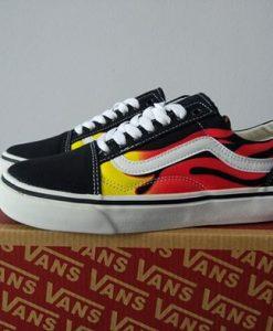 vans old flame black