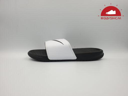 dép nike benassi classic đen quai trắng