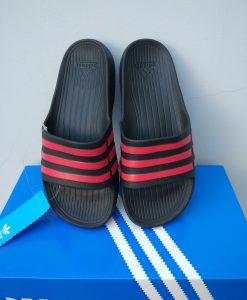 dép adidas đúc nguyên khối duramo trắng sọc đen
