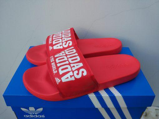 Dép adidas train the world đỏ