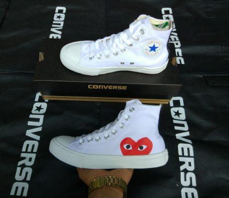 Converse x COMME des GARÇONS Play trắng cổ cao