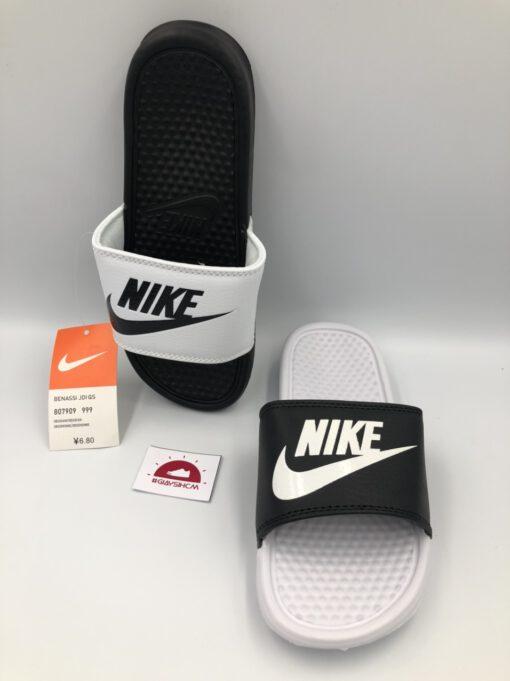 Dép Nike Benassi MisMatch White – Black