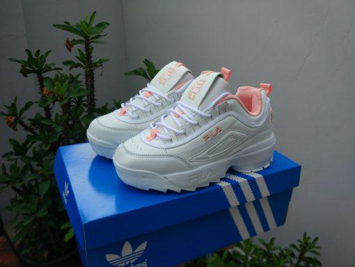 Giày Fila Desruptor II trắng hồng