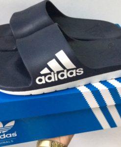 dép adidas đúc 03 đen trắng