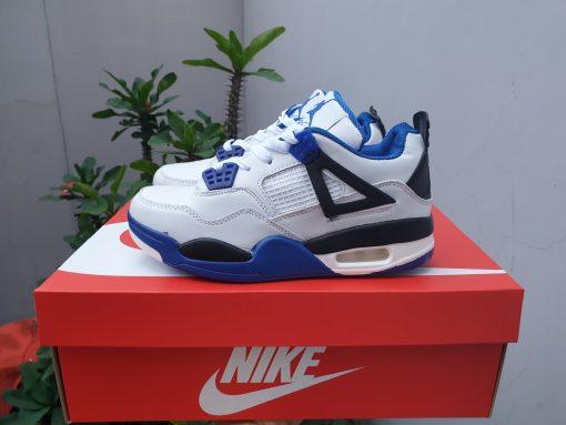 Jordan 4 trắng xanh