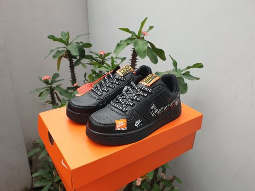Nike air force 1 Just do it full đen