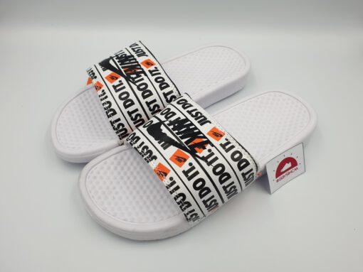 Dép Nike Benassi just do it trắng