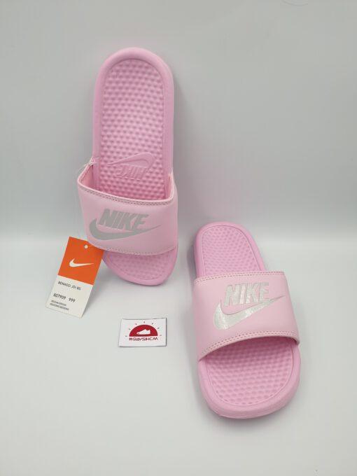 Dép Nike Benassi hồng phấn