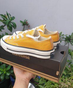 Giày converse vàng cổ thấp - hàng REPLICA