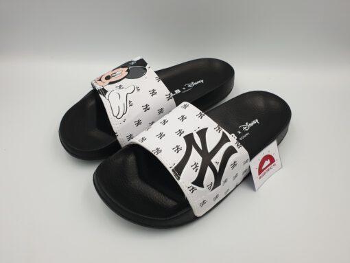 Dép MLB NY Mickey trắng