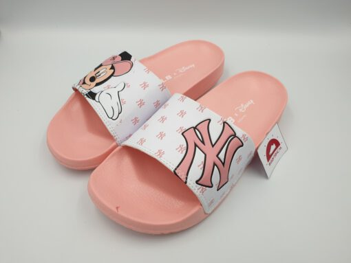 Dép MLB NY Mickey hồng