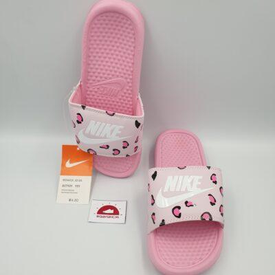 Dép Nike benassi đốm hồng