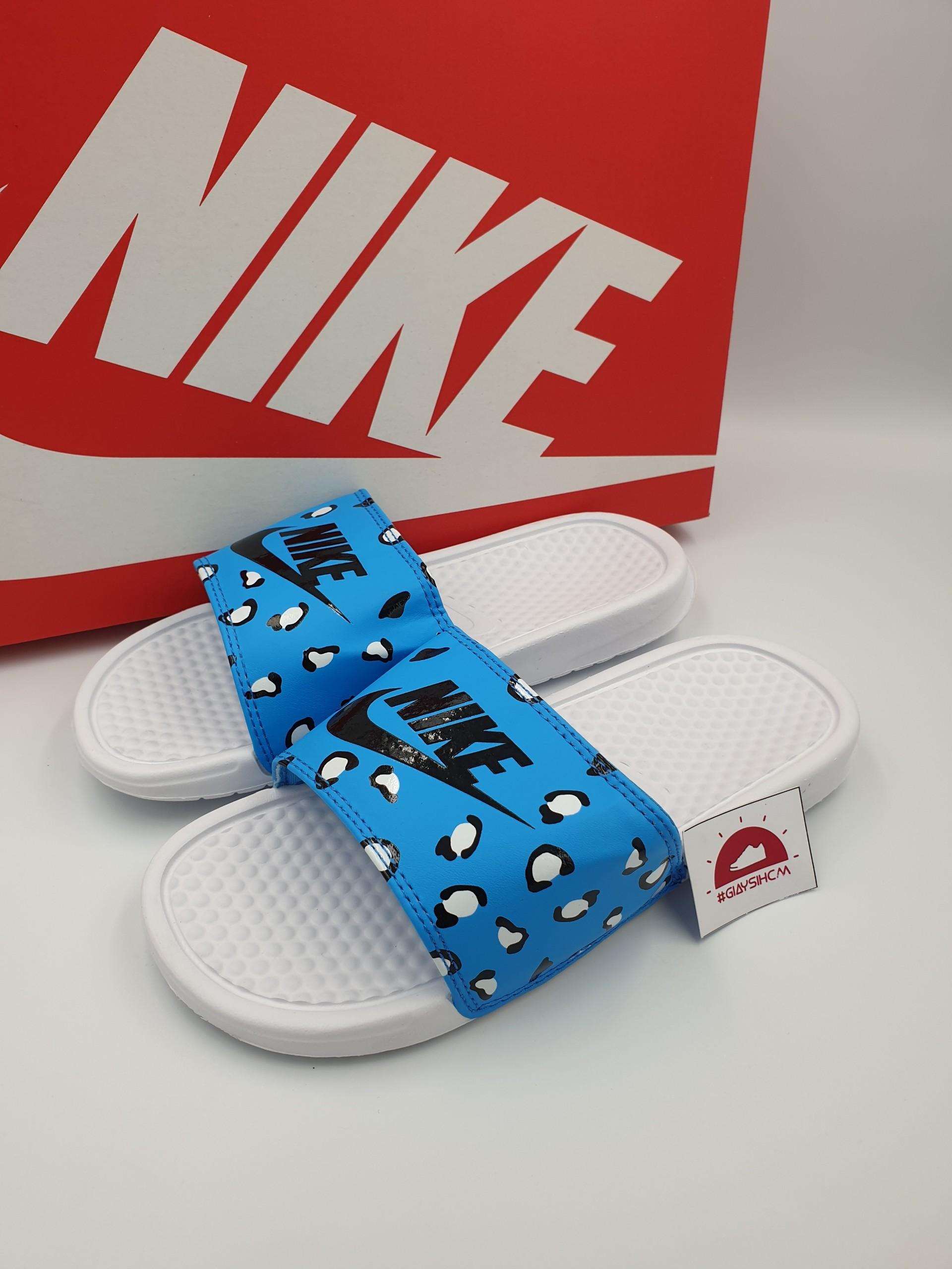 Nike benassi đốm xanh