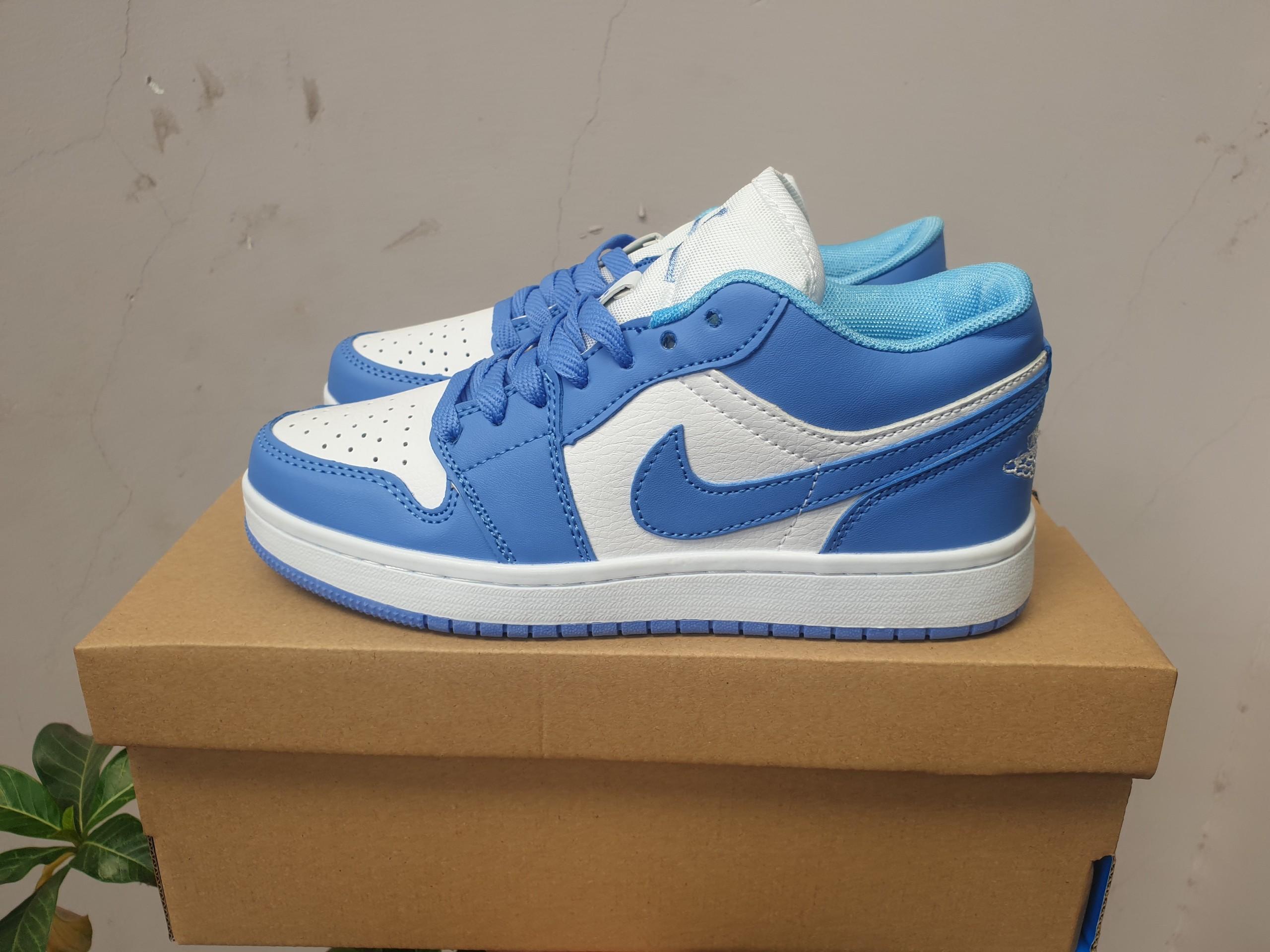 Giày jordan 1 cổ thấp màu xanh dương