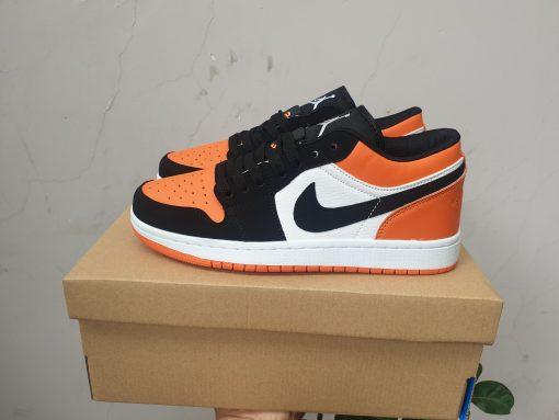 Giày jordan 1 cổ thấp đen cam