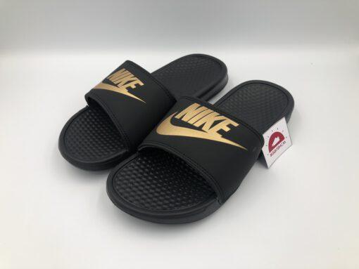 Dép Nike benassi đen vàng