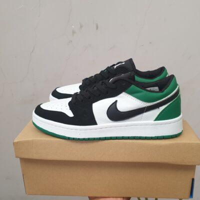Giày jordan 1 cổ thấp màu đen xanh lá