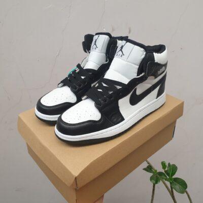 Giày jordan 1 cổ cao màu đen trắng