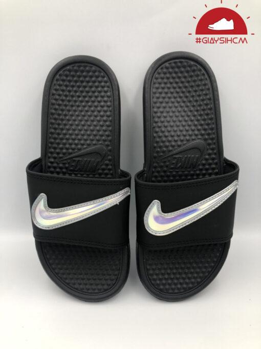 Dép Nike Benassi Hologram Đen